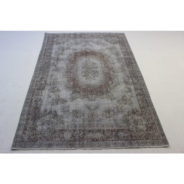"Gray Turkish Overdyed Rug - 5'7"" X 9'5"" - Image 3 of 9"