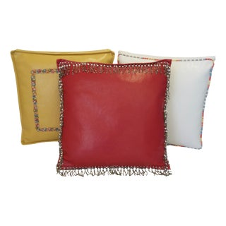 Vinyl Boxed Decorative Pillows - Set of 3