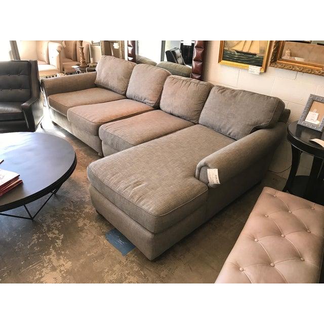 Restoration Hardware Gray Lancaster Sectional Sofa - Image 3 of 4