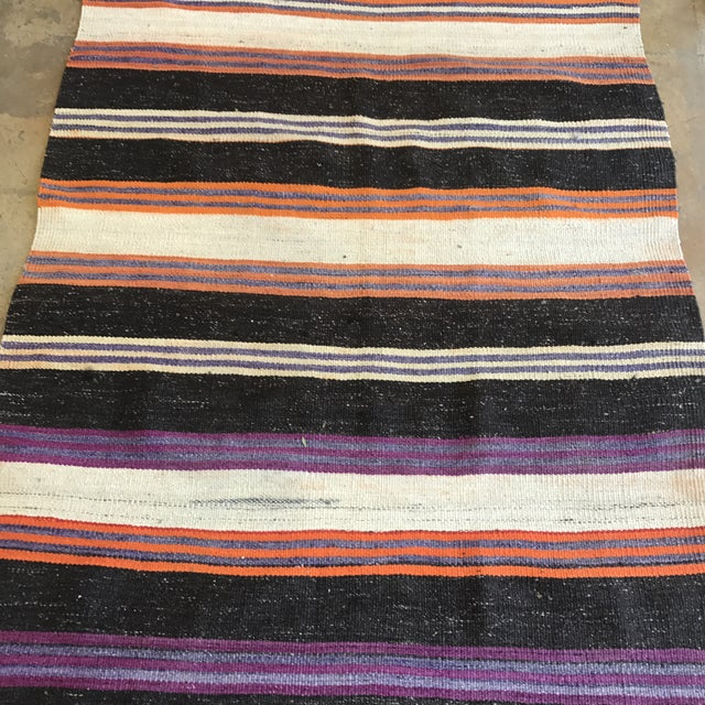 Striped Flat Weave Rug - 4′6″ × 8′6″ - Image 5 of 5