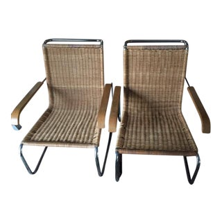 Marcel Breuer for Thonet B-35 Lounge Chairs - A Pair