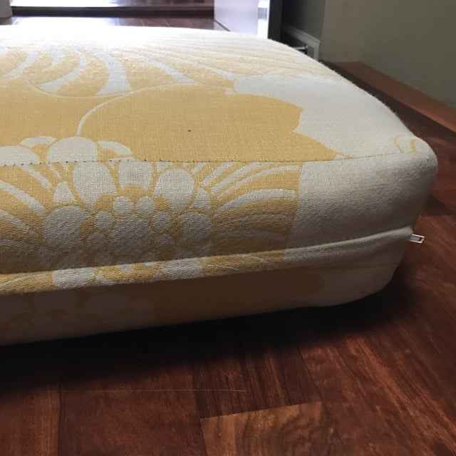 Yellow Floral Floor Cushion - Image 6 of 6