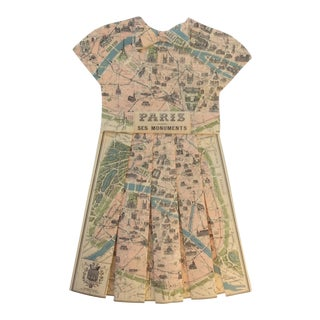 Vintage Paris City Street Map Dress