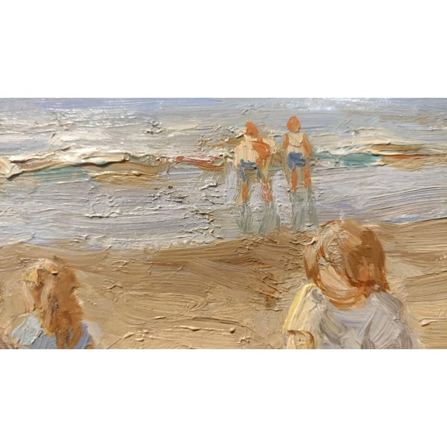 "Anton Karssen ""Children Day at the Beach"" Original Oil Painting - Image 8 of 10"