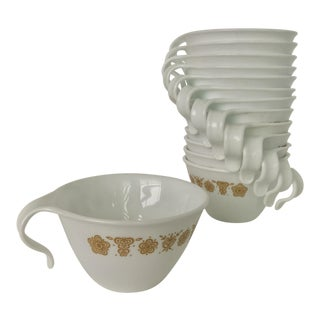 Spring Blossom Pyrex Tea Cups - Set of 14
