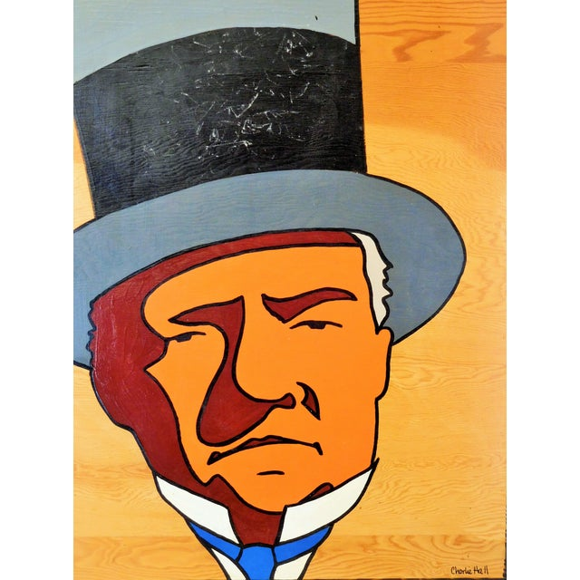 Image of Charles Hall Large WC Fields Pop Art Painting