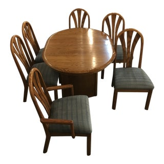 Kallen and Wamboldt Dining Room Table & Chairs - Set of 7