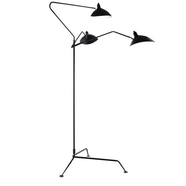 Image of Serge Mouille Replica Black Steel Floor Lamp