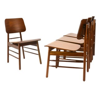 Walnut Dining Chairs by Greta Grossman - 4