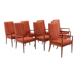 Set of Eight Dining Chairs with Arms Designed by Jules Heumann for Metropolitan
