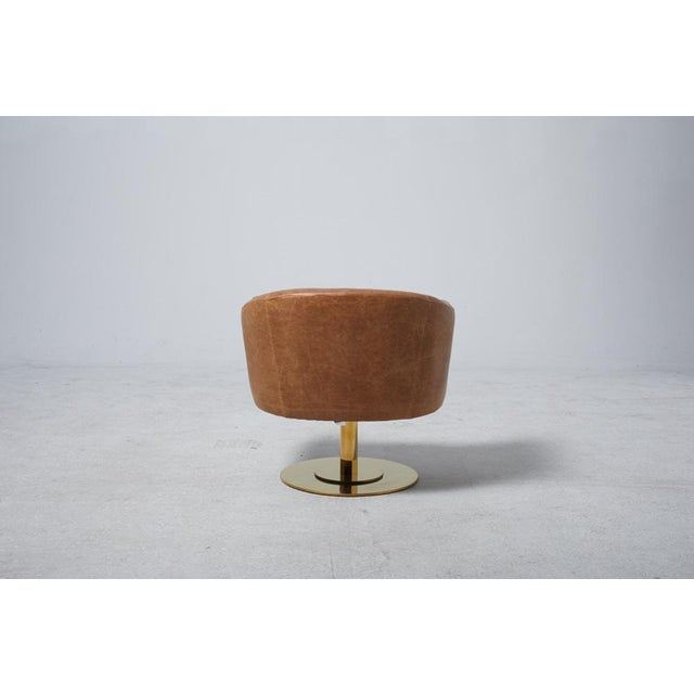 Cupa Brown Leather Chair - Image 5 of 5