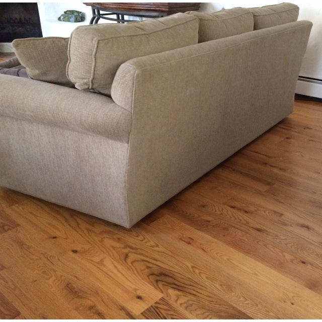 Image of Crate and Barrel Sofa with 4 Matching Pillows