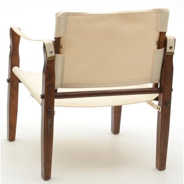 Mid Century Ivory Safari Chair Chairish