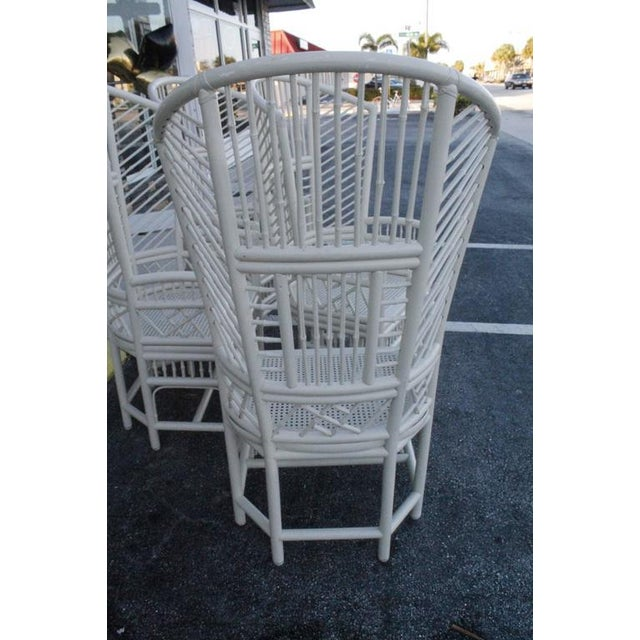 Brighton Pavilion High Back Rattan Chinese Chippendale Chairs - Set of 4 - Image 7 of 11