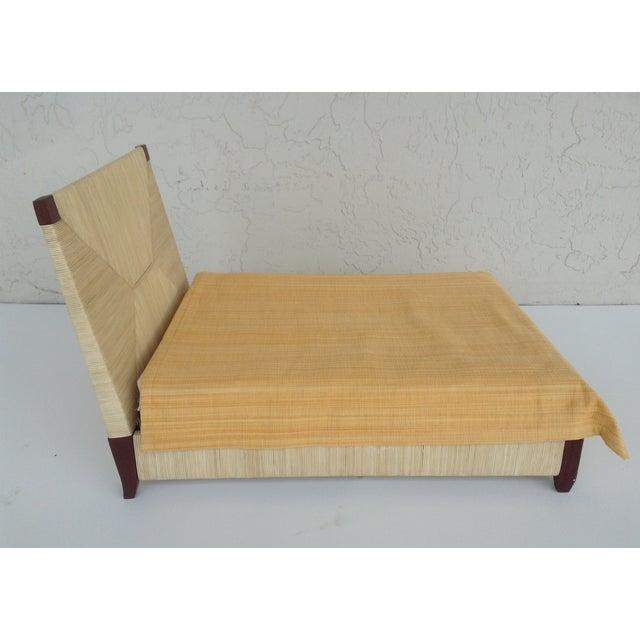 Image of Donghia Merbau Bed Salesman Model/Sample