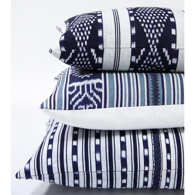 Indigo & Teal Guatemalan Ikat Pillow - Image 3 of 6