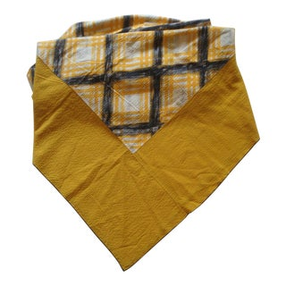Plaid Cotton Seersucker Picnic Tablecloth