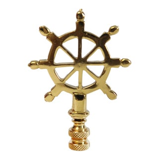 Brass Ship's Wheel Finial