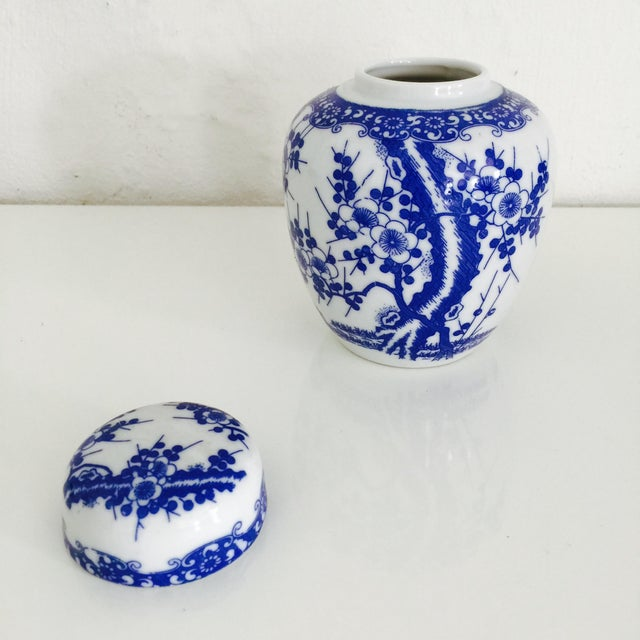 Mini Chinoiserie Blue & White Ginger Jar - Image 6 of 7