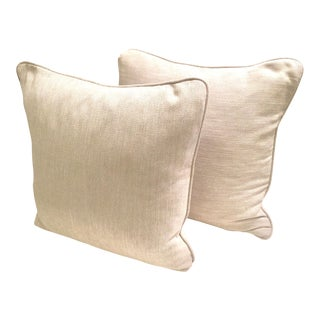 Cream Textured Throw Pillows - A Pair