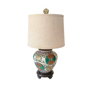 Ming Style Ceramic Lamp With Shade