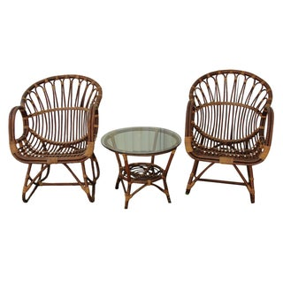 Franco Albini Bentwood Chairs & Table - Set of 3