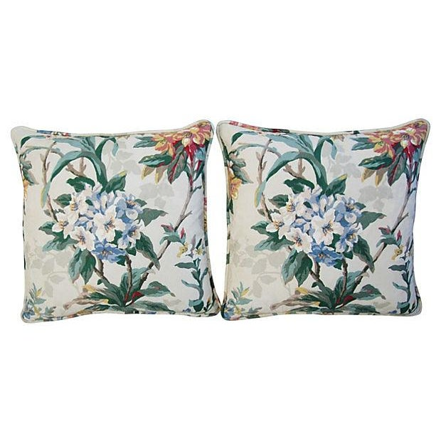 P. Kaufmann Rhododendron Pillows - A Pair - Image 7 of 7