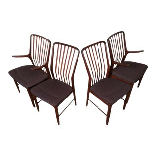 Vintage Danish Moreddi Stamped Teak Chairs - Set of 4