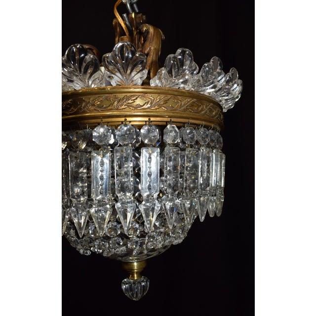 Antique lighting, Baccarat pendant - Image 3 of 6