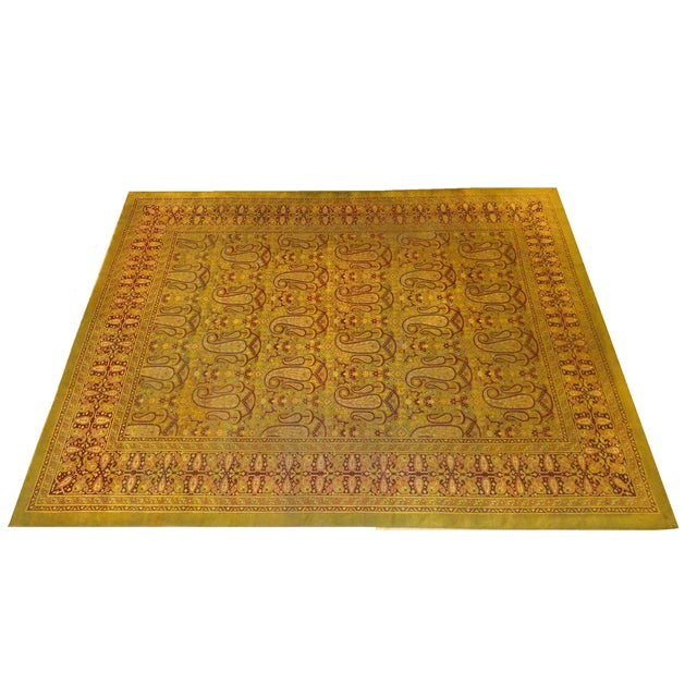 Image of Antique Amritzar Rug - 9′ × 12′