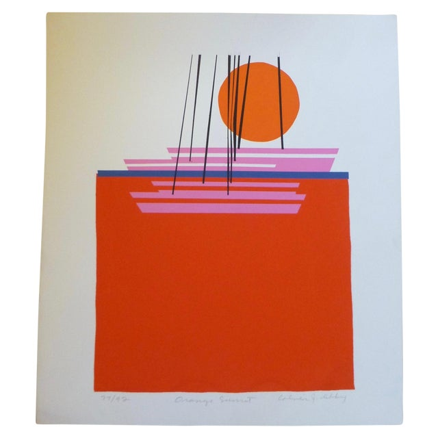 """Image of """"Orange Sunset"""" by Noted Artist Calvin Libby"""