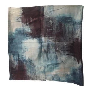West Elm Painterly Textured Silk Pillow Cover