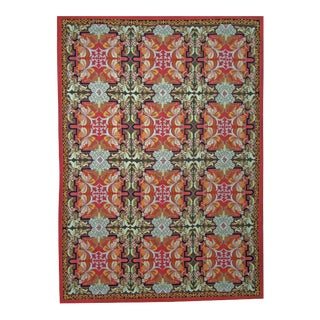 "Pasargad Aubusson Hand Woven Wool Rug - 8'11"" x 12' 1"""