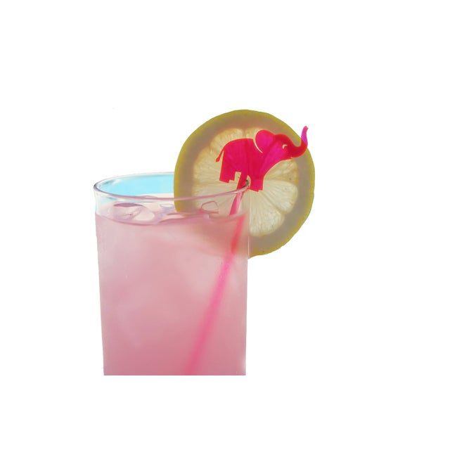 Hot Pink Elephant Drink Stirrers - Set of 6 - Image 5 of 6