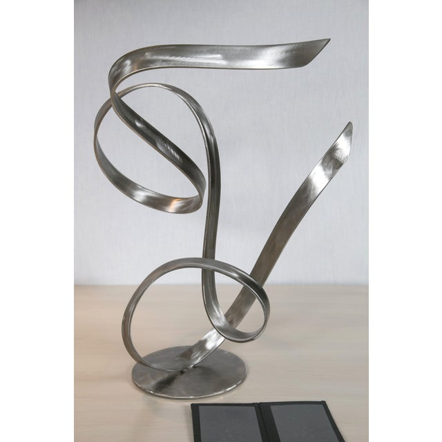 """Electric Wind"" Steel Sculpture by Joe Sorge - Image 2 of 10"