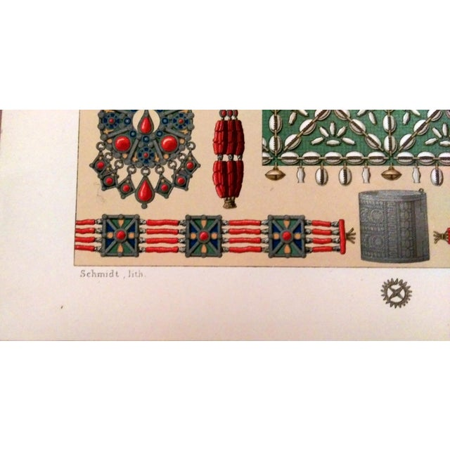 1888 Ornaments of Ancient Africa Lithograph - Image 5 of 8