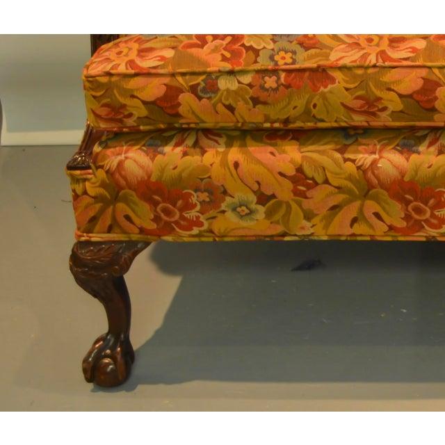 Upholstered Camelback Sofa - Image 3 of 3