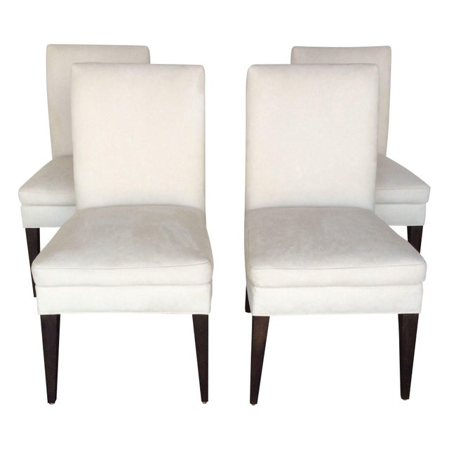 Microfiber suede modern dining chairs set of 4 chairish for Modern dining chairs ireland