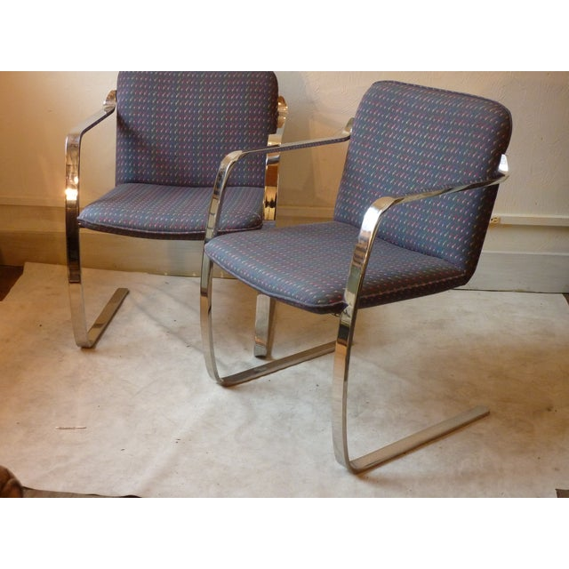 Modern Bruno Style Chairs - A Pair - Image 3 of 5