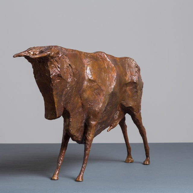 Sculpture of a Standing Bull by Christian Maas - Image 4 of 7