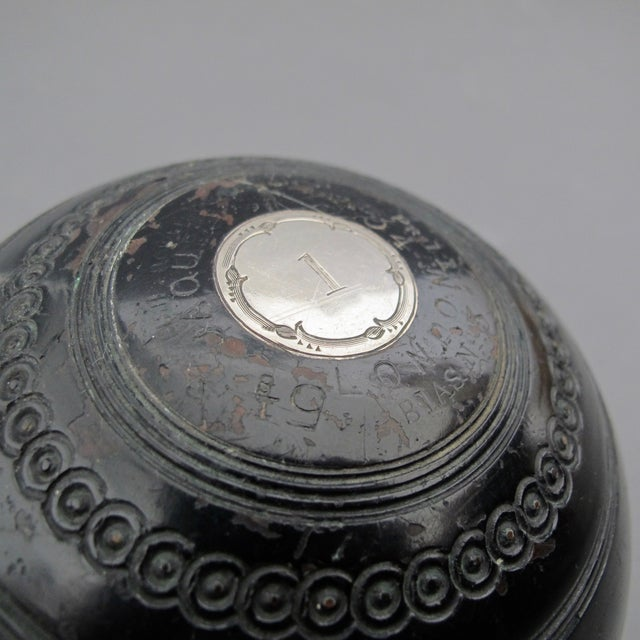 Image of Antique Presentation Lawn Bowls From Scotland - 2