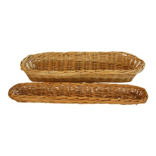 Vintage French Baker Bread Baskets - A Pair