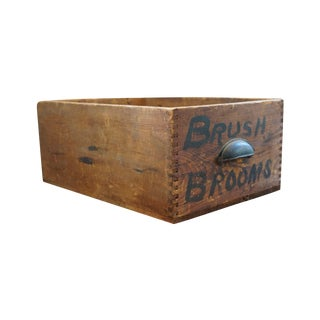 Vintage Rustic Wood Box with Dovetailed Edges