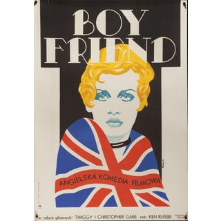 "Polish film poster of Twiggy in ""The Boy Friend"""