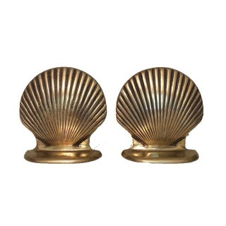 Brass Shell Bookends