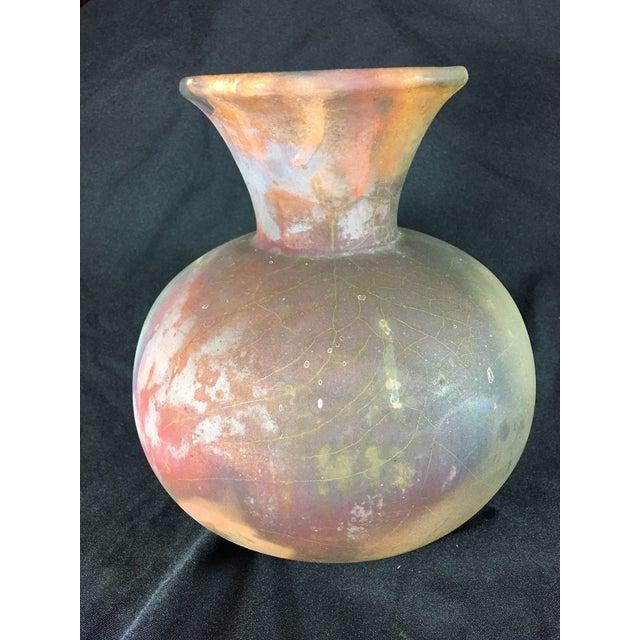 Japanese Raku Fired Ceramic Vase - Image 4 of 6
