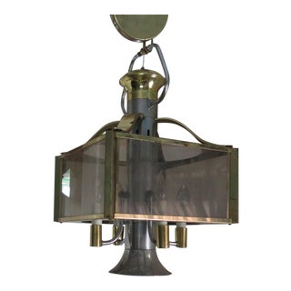 Robert Sonneman Brass Chandelier