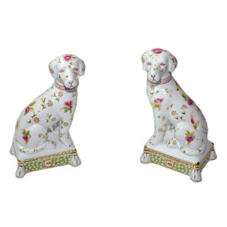Staffordshire Style Mantel Dogs Bookends - A Pair