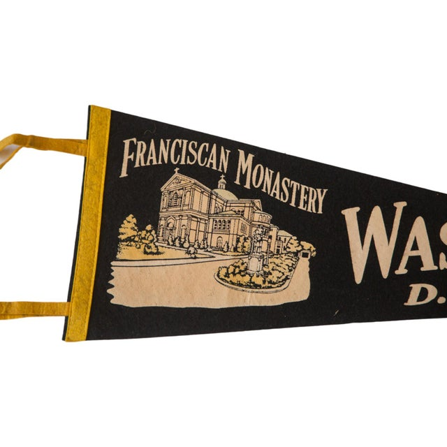 Vintage 1950s Washington DC Felt Flag - Image 2 of 2