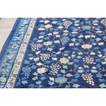 Image of Indigo Blue Chinoiserie Art Deco Rug - 7′ × 20′